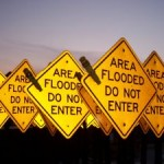 Area flooded do not enter sign