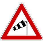 driving in high wind sign
