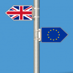 Great Britain sign & Europe sign : Brexit