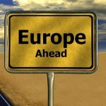 Europe ahead sign