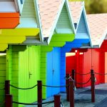 Coloured garages